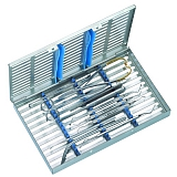 Surgical base tray for apicectomies