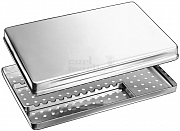 Norm-Tray stainless steel 18/8 with lid+bottom+storing frame