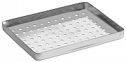 Bottom ½-Tray perforated stainless 184x140x20mm