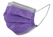 Surgical mask purple type IIR box of 50 pieces