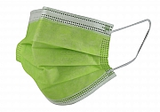 Surgical mask green type IIR box of 50 pieces