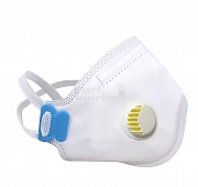 FFP3 mask white with valve box of 5 pieces