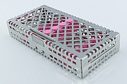 Steri-Wash-Tray 190x92x34mm 6 instr. - silicones pink