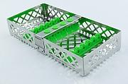 Steri-Wash-Tray 190x90x34mm 6 instr. - silicones green