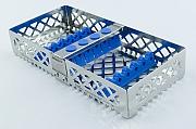 Steri-Wash-Tray 190x90x34mm 6 instr.- silicones light blue