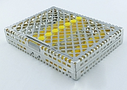 Steri-Wash-Tray 190x140x34mm 10 instr. - silicon yellow