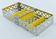 Steri-Wash-Tray 190x90x34mm 6 instr. - siliconas amarillo