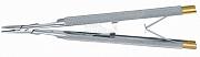 Nadelhalter Castroviejo-Mikro mit Rundgriff 13 cm Hartmetall