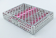 Steri-Wash-Tray 190x140x34mm 10 instruments - silicon pink