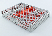 Steri-Wash-Tray 190x140x34mm 10 instrum. - silicon orange