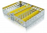 Steri-Wash-Tray 190x140x34mm 10 instr. - siliconas amarillo